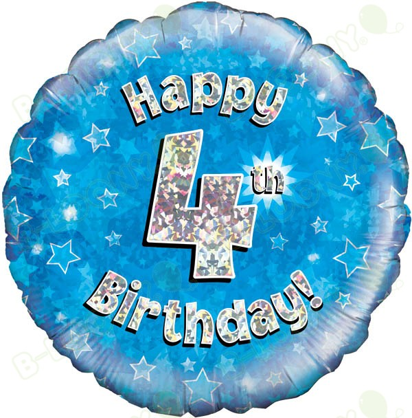 Happy 4th Birthday Boy's Helium Balloon