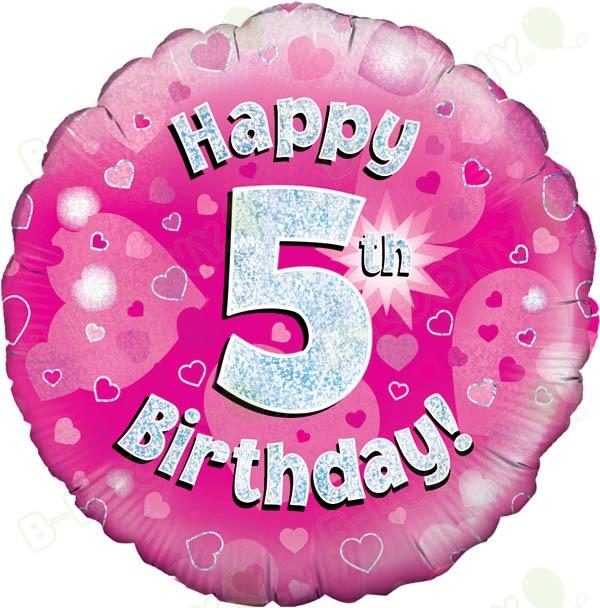 Happy 5th Birthday Girl S Helium Balloon Perfect Party