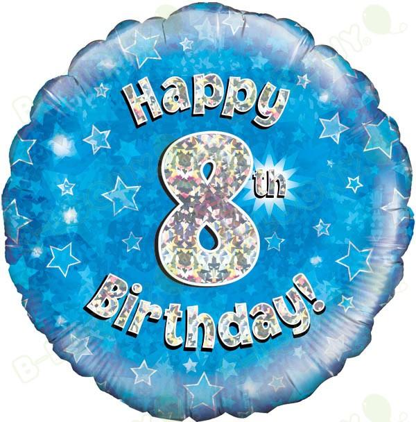 Happy 8th Birthday Boy's Helium Balloon