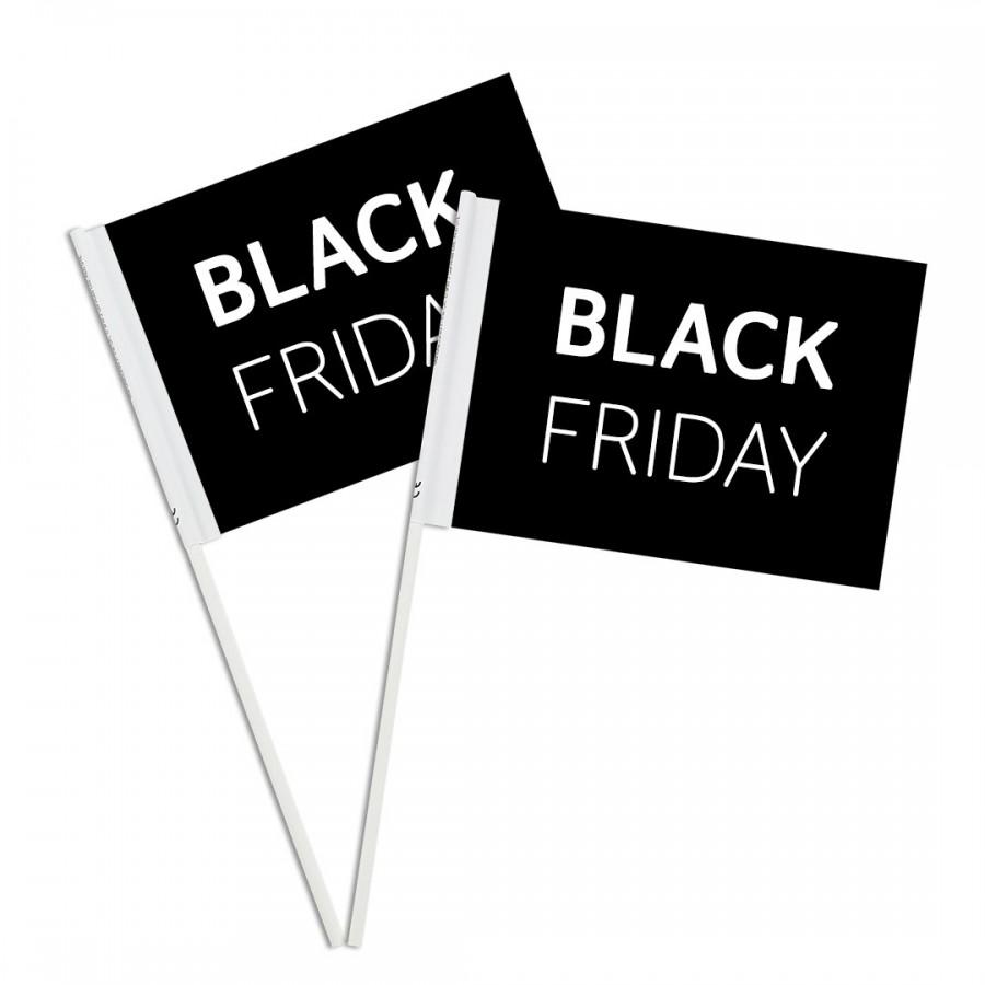 Black Friday Custom Printed Paper Handwaving Flags