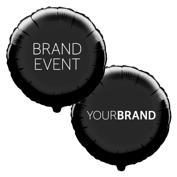 Brand Event Printed Foil Balloons Black
