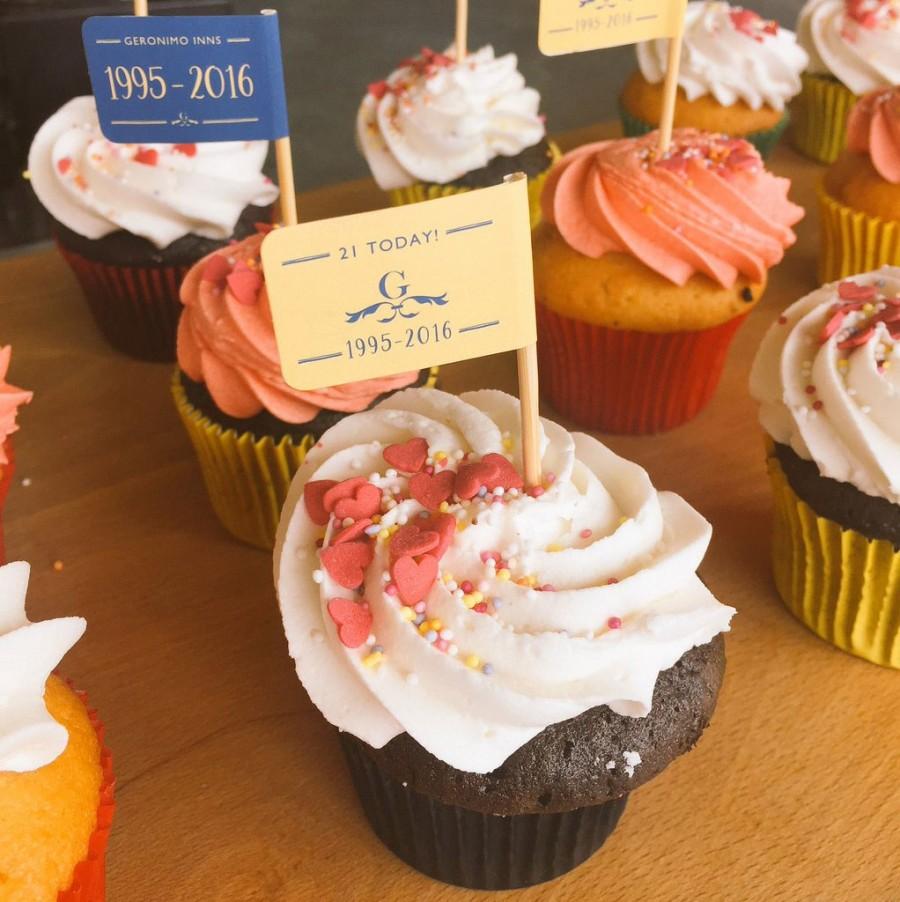 Custom Printed Cupcake Flags