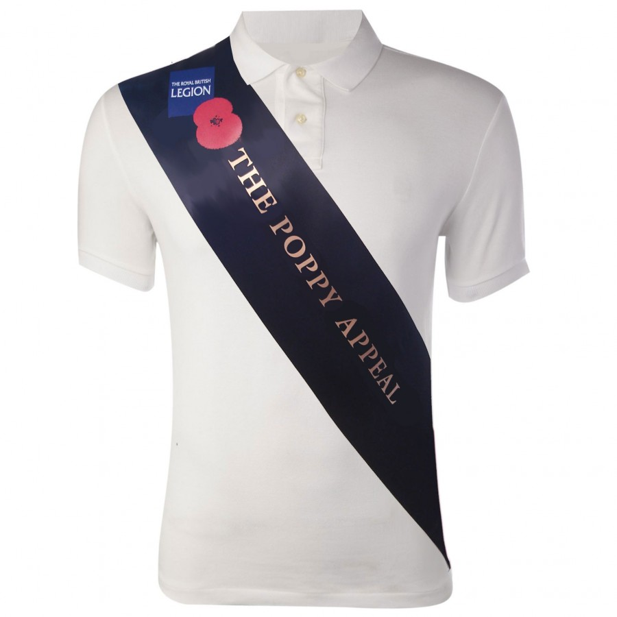Deluxe Screen Printed Sash for Poppy Appeal