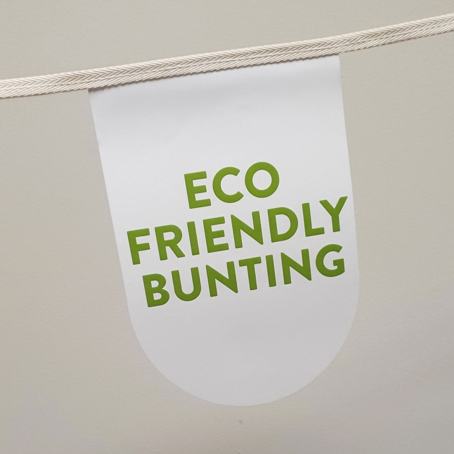 Eco Friendly Stitched Cotton & Paper Bunting