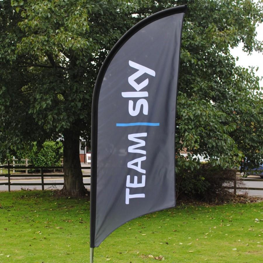 Feather Flag for Team Sky