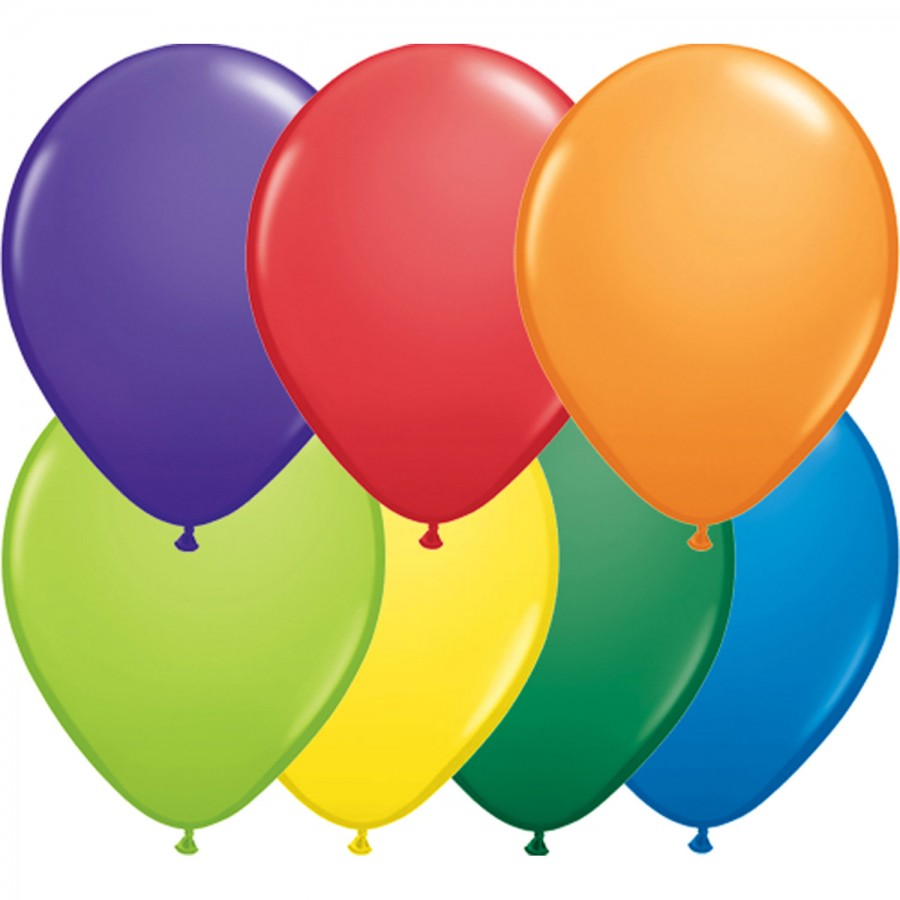 """5"""" Latex Balloon Carnival Assorted (Pack of 100)"""
