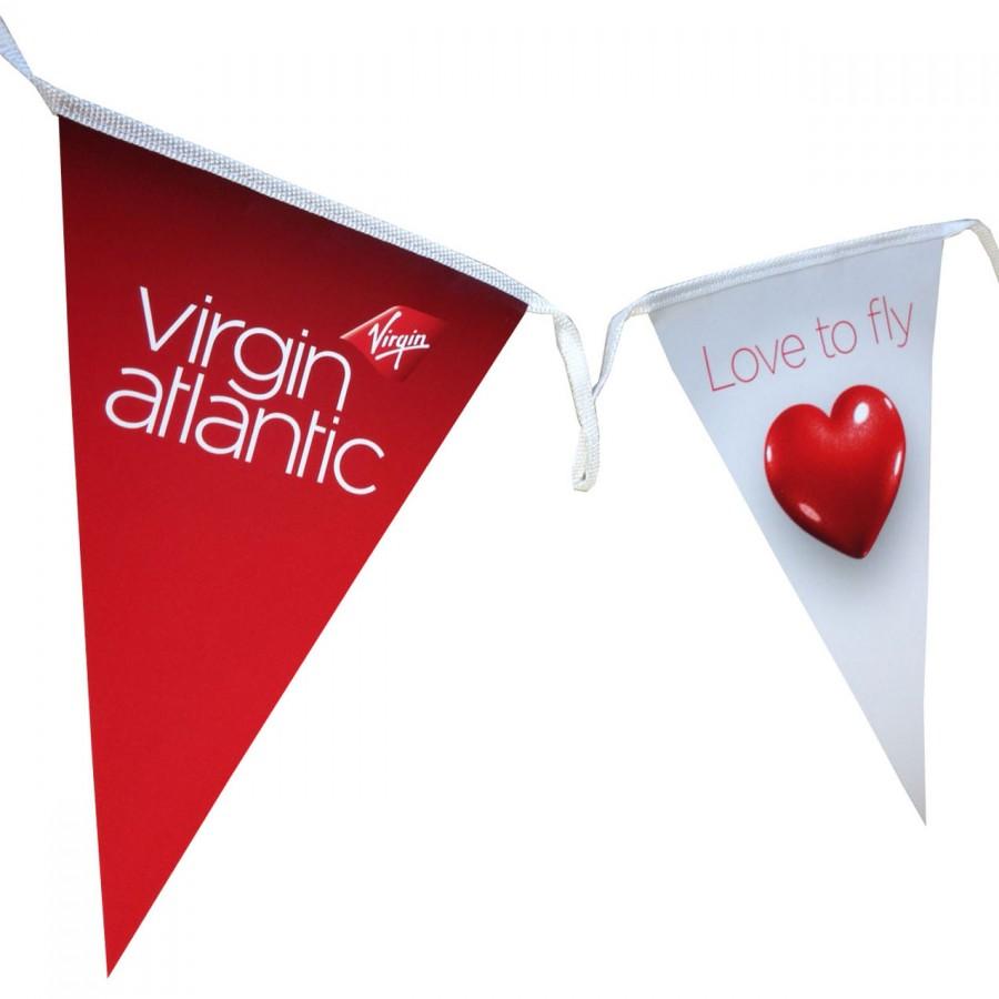 Indoor Paper Bunting for In-Store Promotions - Virgin Atlantic