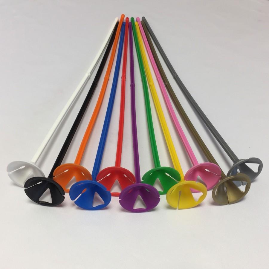 One Piece Child Safe Coloured Balloon Sticks