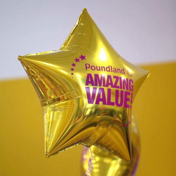 Custom Printed Star Shape Foil Mylar Balloons
