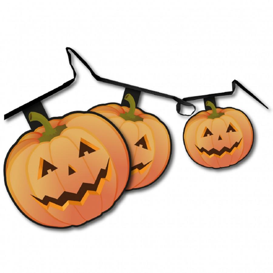 Pumpkin Shaped Bunting Pennants