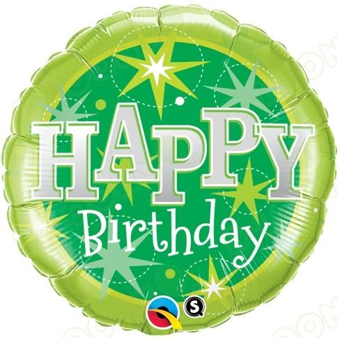 Happy Birthday Balloon - Sparkle (18 Inch)