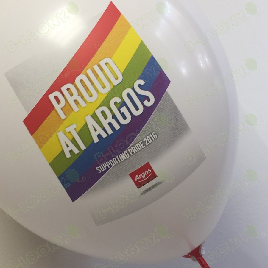 Argos Pride CMYK Print Latex Balloon