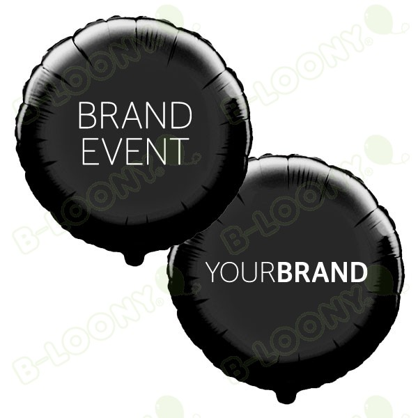 Brand Event Printed Foil Balloons Black