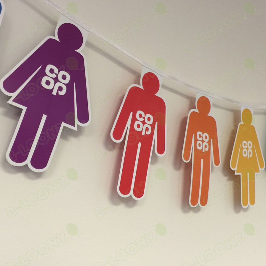 People Shape Bunting for CO-OP, Supporting Pride
