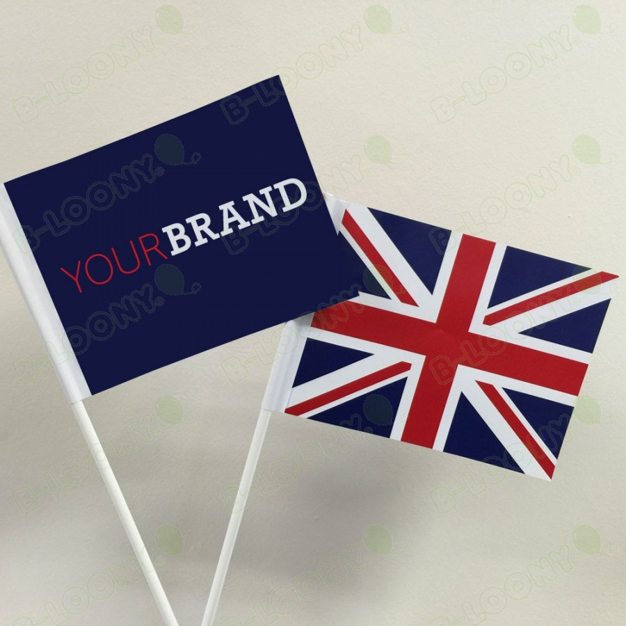 Branded Union Jack Hand Waving Flags