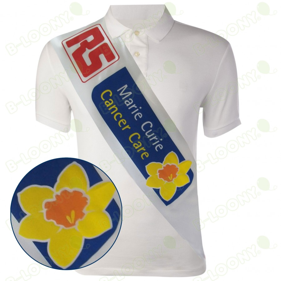 Charity Sash for Fundraising for Marie Curie