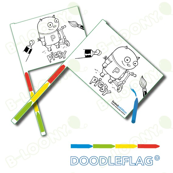 Customised Dodleflag for Children's Entertainment and Brand Promotion