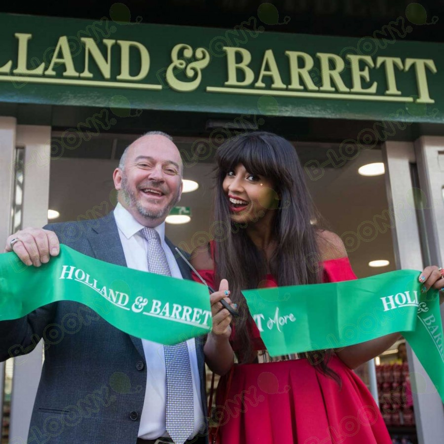 Bespoke Printed Store Opening Ribbon for Holland & Barrett