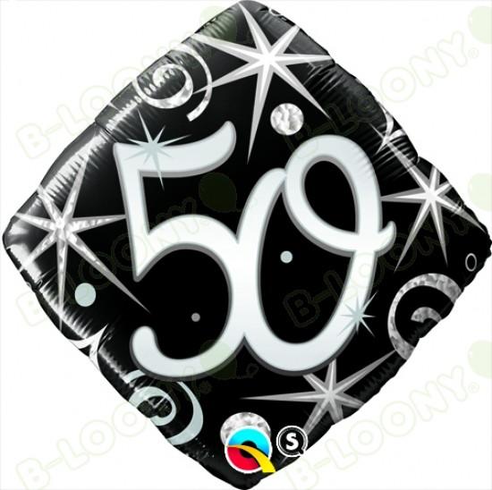 "Foil 18"" Elegant Sparkles & Swirls 50 Helium Balloon"