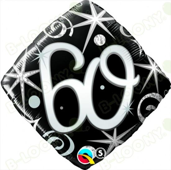 "Foil 18"" Elegant Sparkles & Swirls 60 Helium Balloon"
