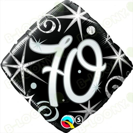 "Foil 18"" Elegant Sparkles & Swirls 70 Helium Balloon"