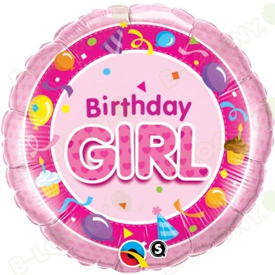 Birthday Girl Pink Helium Balloon