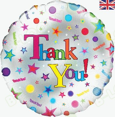 "Oaktree 18"" Foil Balloon Thank You! Multicolour"