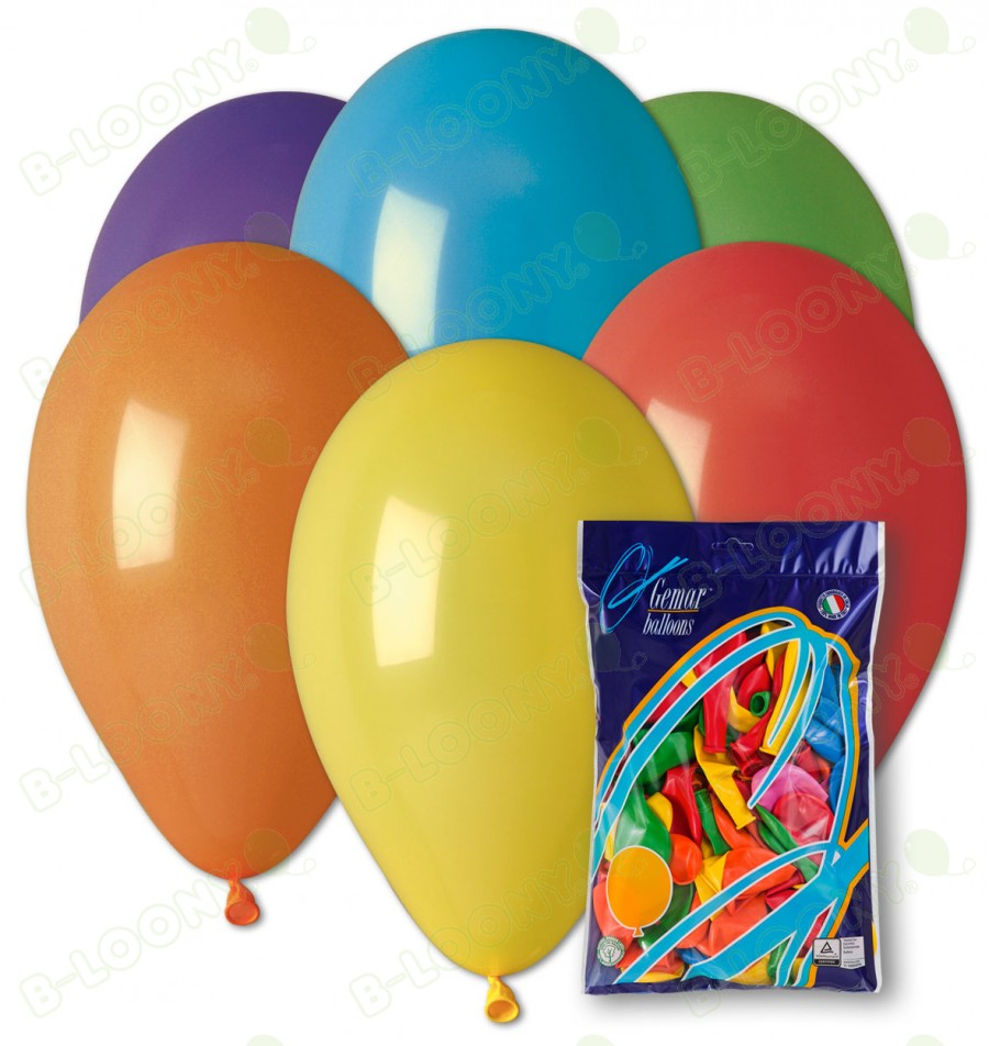 """Party Balloons in Assorted Colours 8"""" (50 Pack)"""