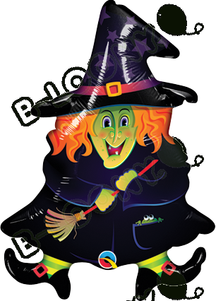 14 Inch Foil Balloon Wacky Witch
