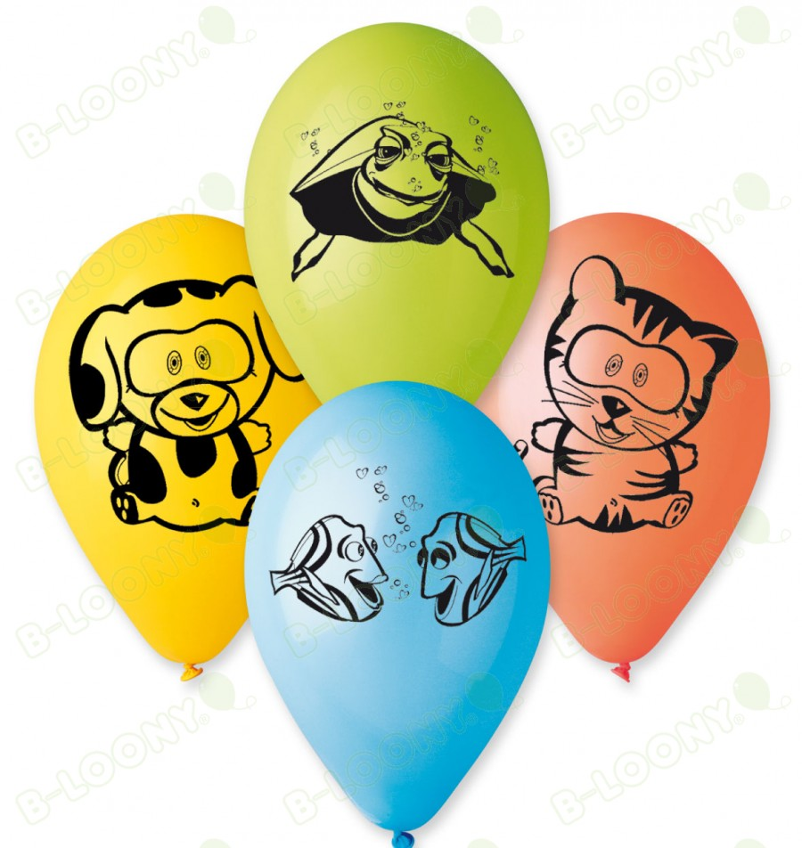 """Pack of 25 x 12"""" Assorted Pet Animal Design Balloons"""
