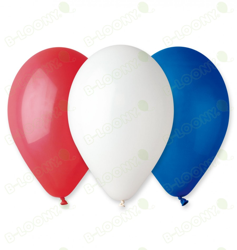 Red, White & Blue Assorted Balloons