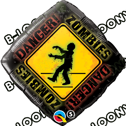 18 Inch Foil Balloon Zombies Crossing