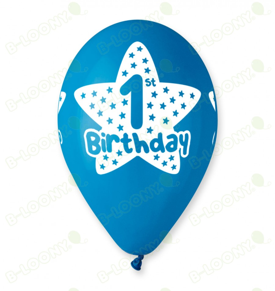 Blue 1st Birthday Balloons