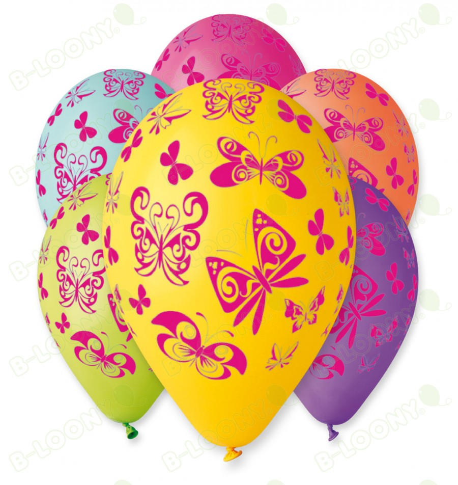 Assorted Butterfly Balloons