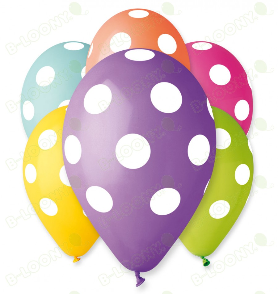 Assorted Polka Dot Balloons