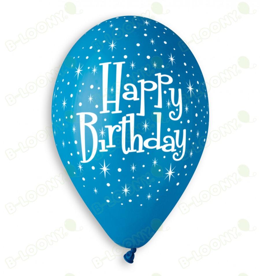 Blue Boy's Happy Birthday Balloons