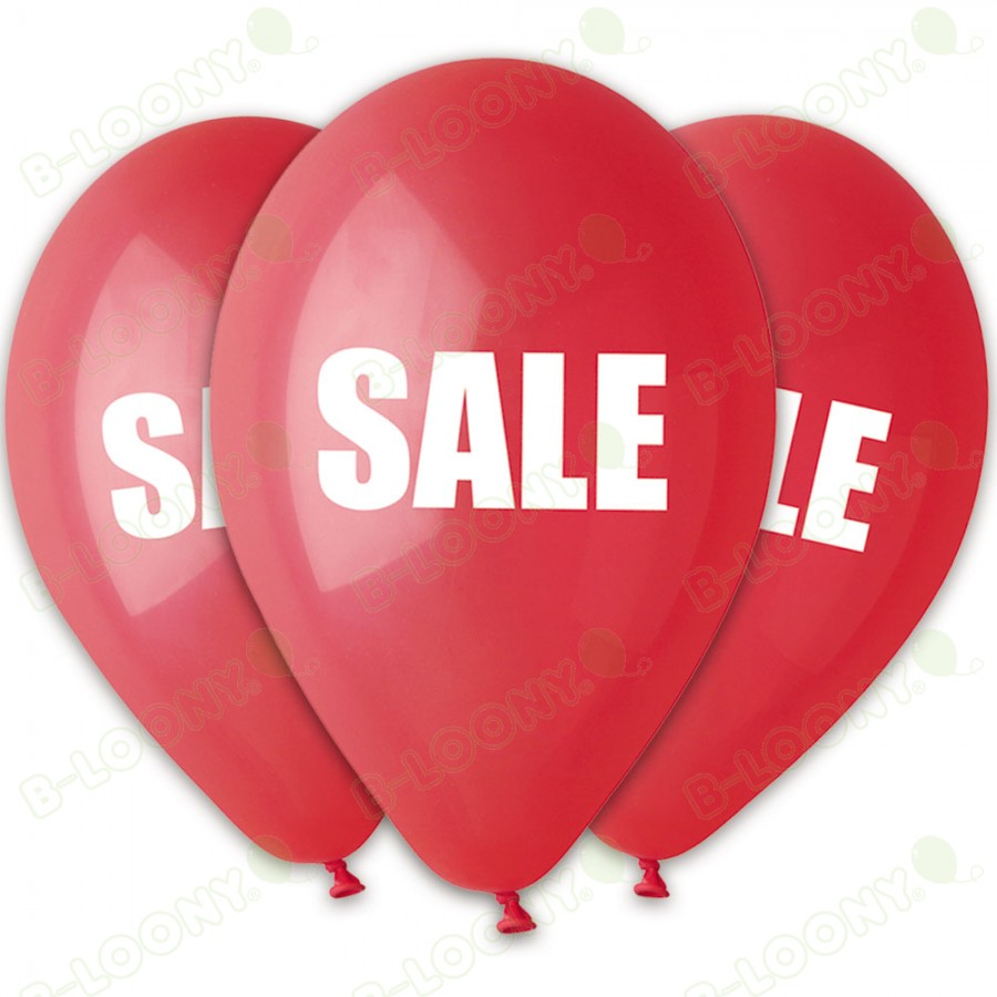 Pack of 25 Red Latex Sale Balloons