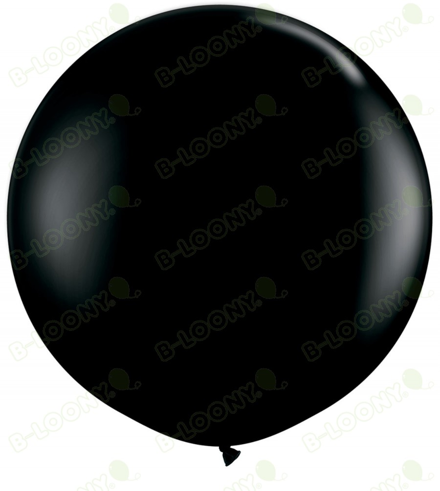"36"" Onyx Black Giant Balloons (Pack of 2)"