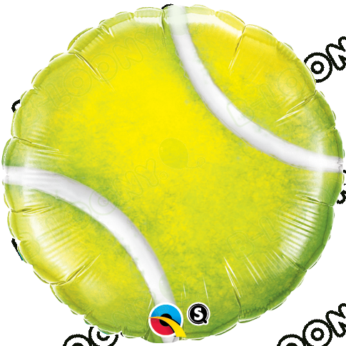 "18"" Foil Tennis Ball Helium Balloon in Yellow"