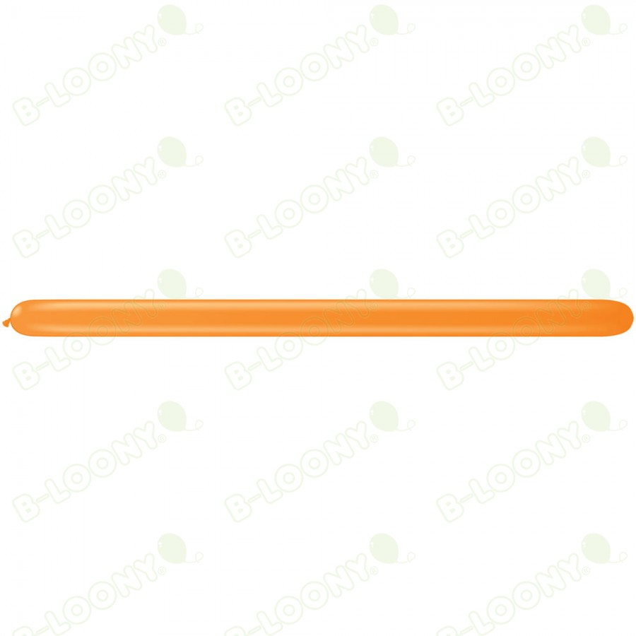 260Q Modelling Balloons Orange (Pack of 100)