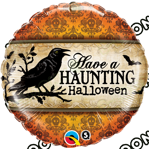 18 Inch Foil Balloon Have A Haunting Halloween