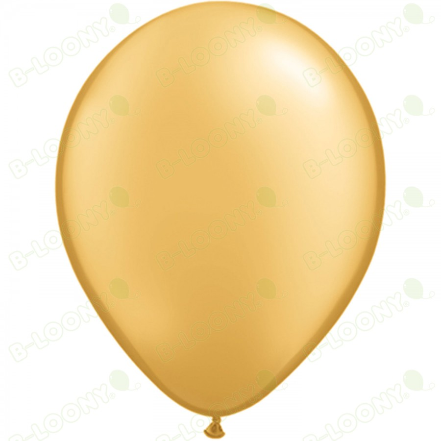 "5"" Latex Balloon Gold (Pack of 100)"