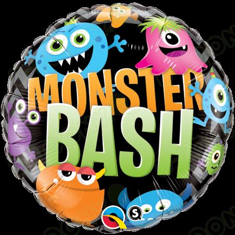 18 Inch Foil Balloon Monster Bash Chevron