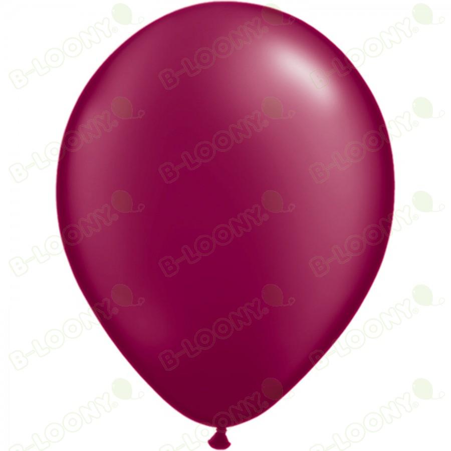 "5"" Latex Balloon Pearl Burgundy (Pack of 100)"