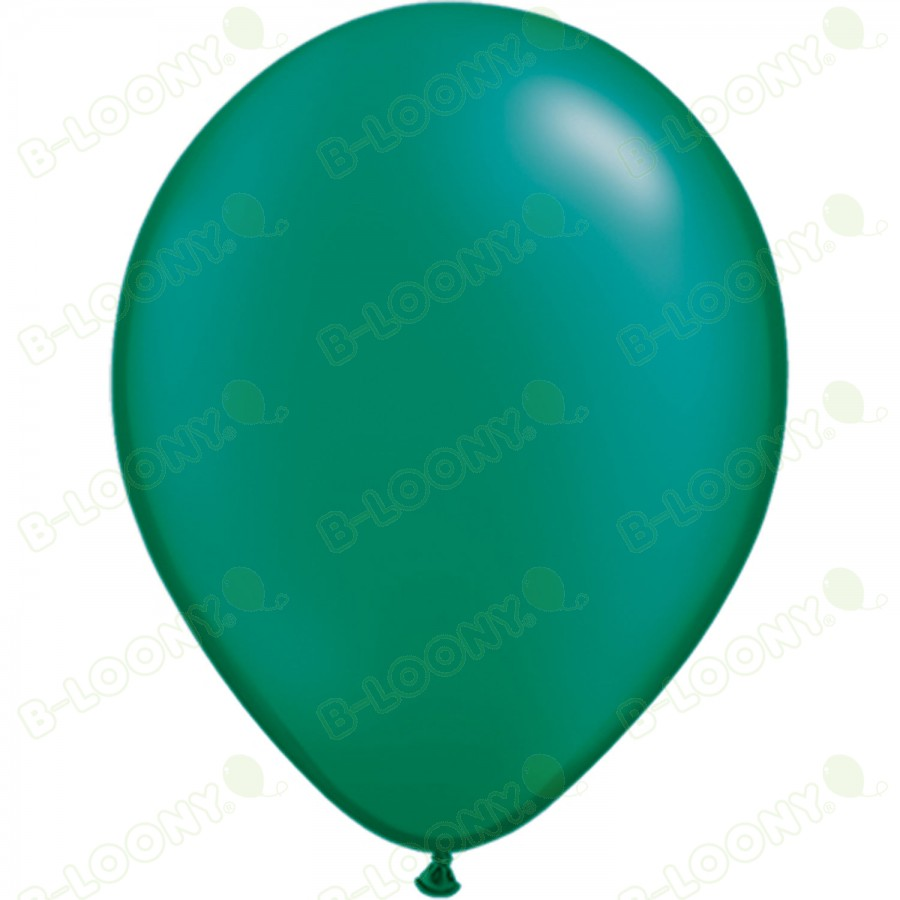 "5"" Latex Balloon Pearl Emerald Green (Pack of 100)"