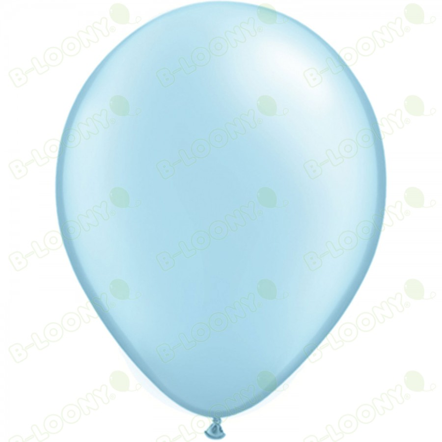 "5"" Latex Balloon Pearl Light Blue (Pack of 100)"