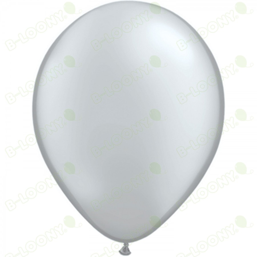 "5"" Latex Balloon Silver (Pack of 100)"