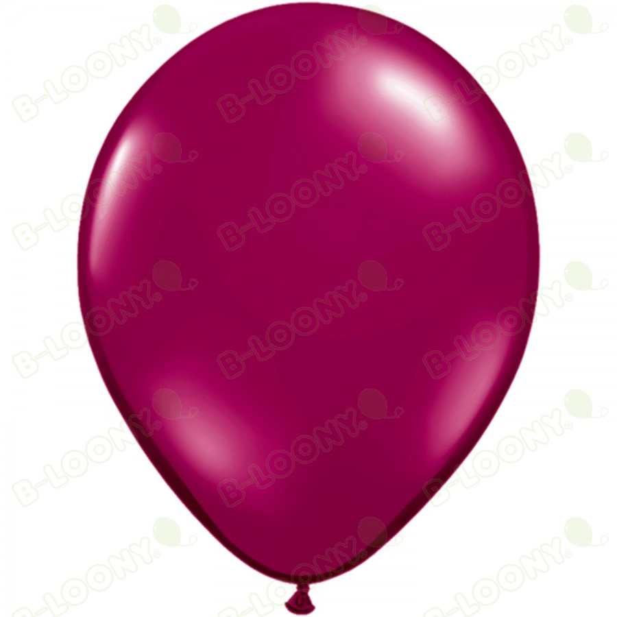 "5"" Latex Balloon Sparkling Burgundy (Pack of 100)"