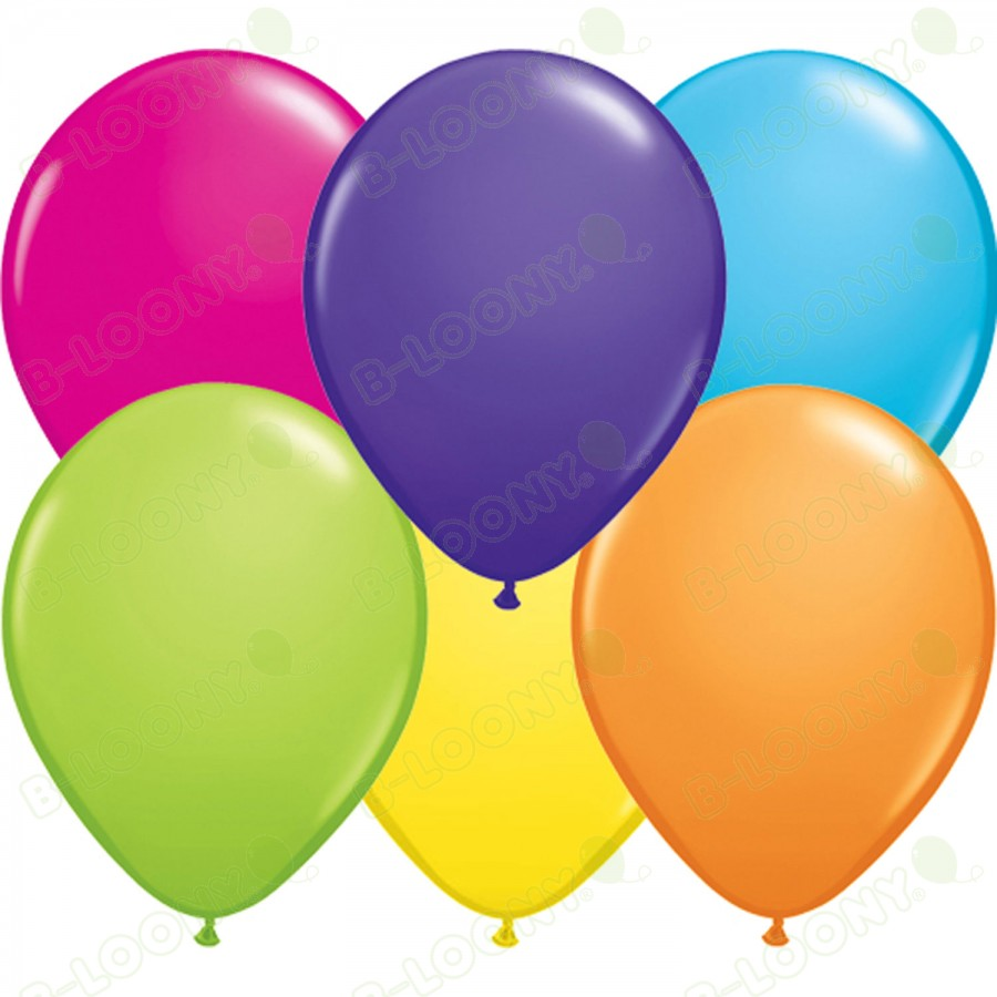 """5"""" Latex Balloon Tropical Assorted (Pack of 100)"""