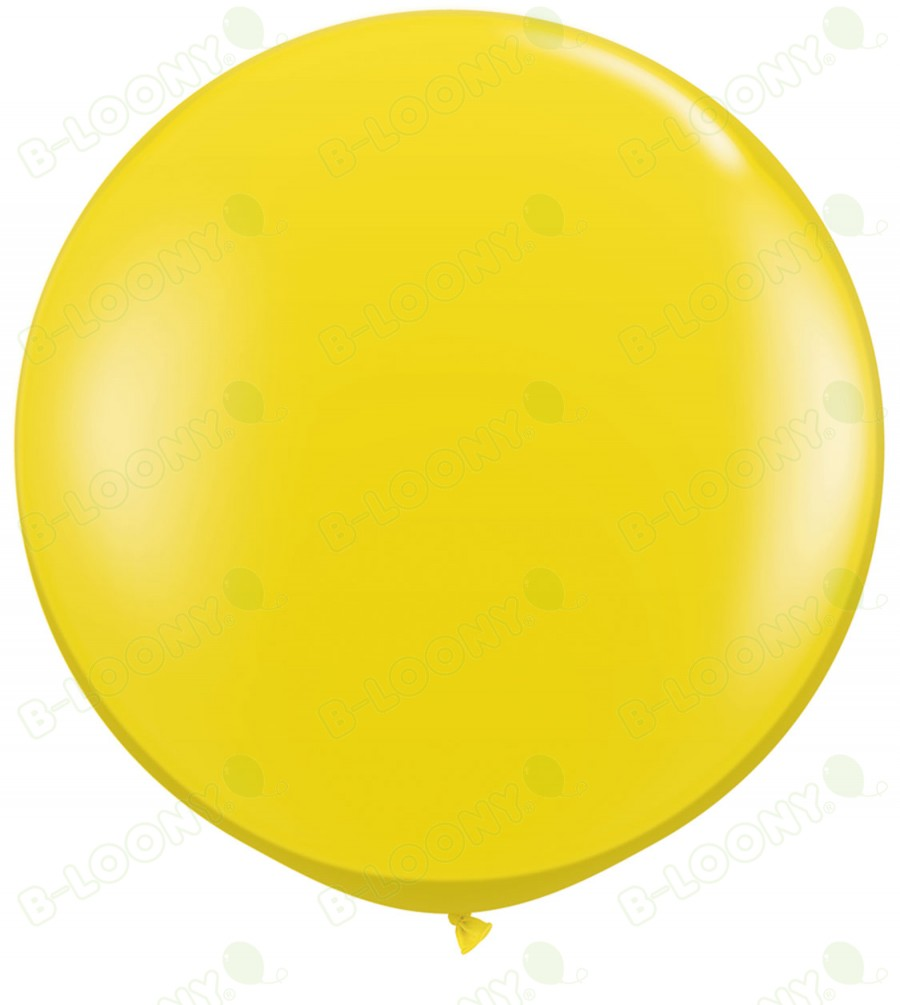 "Qualatex 36"" Latex Balloon Citrine Yellow (Pack of 2)"